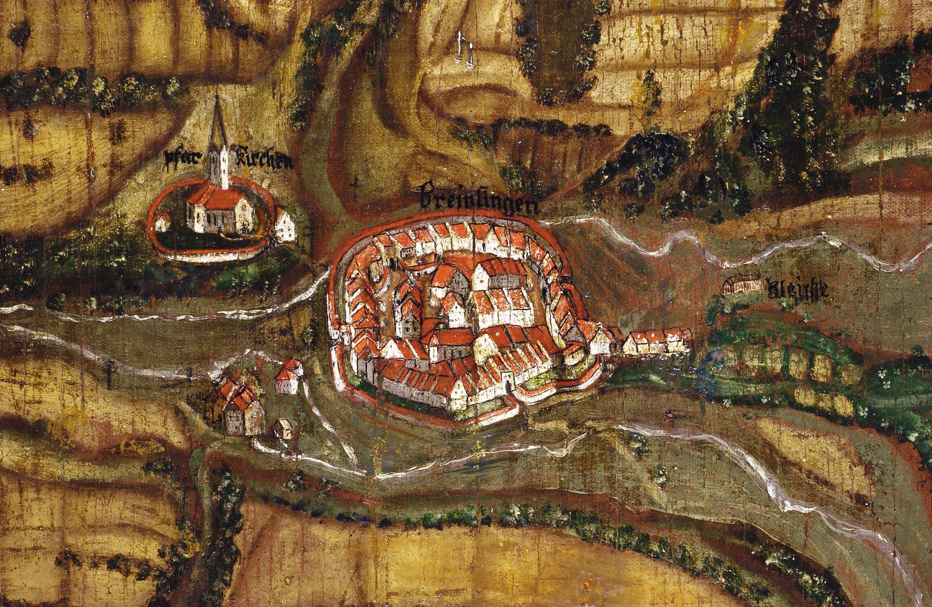 Ausschnitt aus dem Gemarkungsplan von 1721